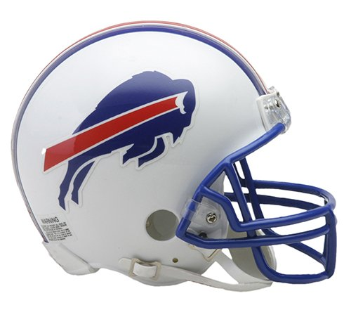 Bills Football Buffalo Mini Helmet - Buffalo Bills 1976-1983 Throwback Riddell Mini Football Helmet - New in Riddell Box