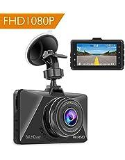 AKASO Dashcam Full HD 1080P Autokamera mit 3 Zoll LCD Bildshirm, 170° Weitwinkelobjektiv Nachtsicht Dash Cam mit G-Sensor, Bewegungserkennung, Parkmonitor, WDR, Loop-Aufnahme