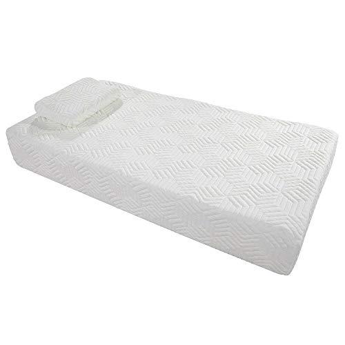 (Cypressshop Twin Bed Size Memory Foam Mattress Visco Bedcloth Firm Medium 10
