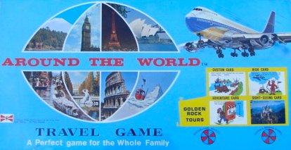 1975 Vintage Around the World Travel Game