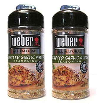 Weber All Natural Roasted Garlic & Herb Seasoning (Pack of 2) 5.50 oz Size