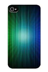 Storydnrmue Durable Rainbow Stripes Back Case/ Cover For Iphone 4/4s For Christmas