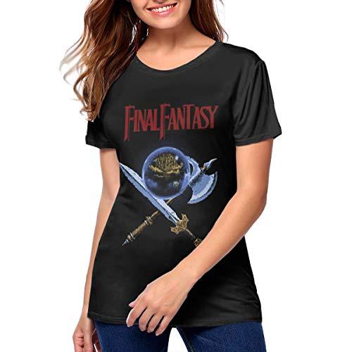 Final Fantasy NES Box Art Retro Video Game Womens Final Fantasy NES Box Art Retro Video Game Tshirts L Black]()