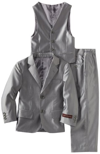 American Exchange Big Boys' Shiny Textured Suit