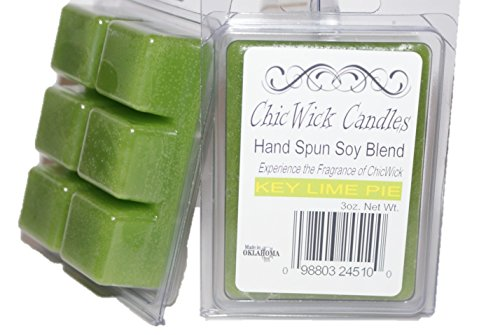 ChicWick Candles 2Pack Key Lime Pie Soy Blend Wax Melts 6oz 12 Wax Cubes Wax Tarts Wax Chunks, 50 Plus Hours of Quality Fragrance ()