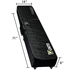 Demon United Snowboard Bag Padded with Wheels XXL Version Perfect Snowboard Bag Wheeled for Air Travel Extra Long, Extra Wide, Extra Deep Version 2 Snowboard Bag with Full Padding Throughout Bag