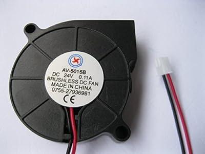 1 Pcs DC Blower Fan 24V 5015B 2 Pin 50x15mm Brushless DC Cooling Ball-bearing