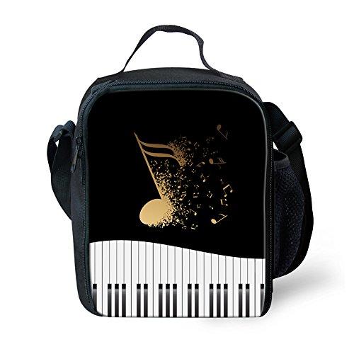 Nopersonality Notes de musique Petit sac à déjeuner isotherme Boîte à lunch pour enfants adolescents S Music Notes7 Music Notes6
