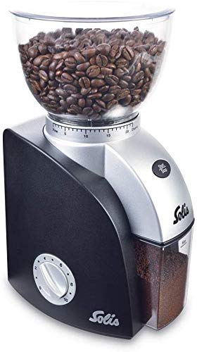 SOLIS Scala Compact Conical-Burr Coffee Grinder, Black