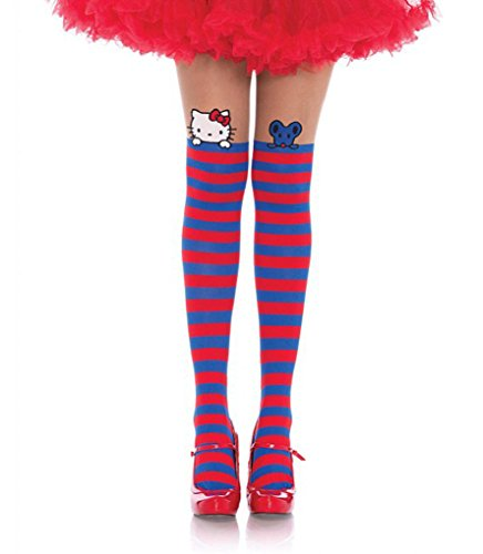 Adult size Hello Kitty Pantyhose - 4 Styles (Blue/Red)