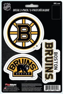 NHL Boston Bruins Team Decal, 3-Pack -