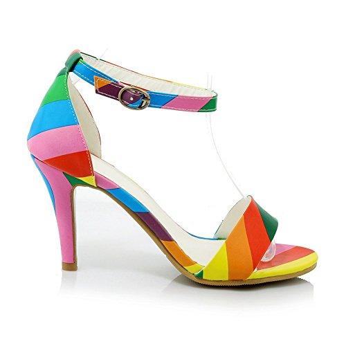 Adee - Sandalias de vestir para mujer Multicolor