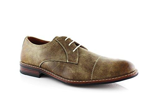 Ferro Jason Mfa19275 Heren Oxford Dress Shoe Voor Werk Of Vrijetijdskleding Bruin