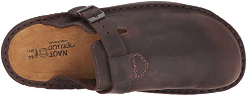 Naot Mens Fiord Leather Sandals Brown