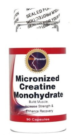 Microcourants 1200mg de créatine Monothydrate # 180 capsules par Nutrition BioPower (2 bouteilles)