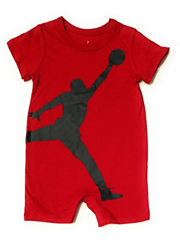 Michael Jordan Baby Boys Short Sleeve Shortall Romper (Red, 6-9 Months) - Michael Jordan Baby Apparel