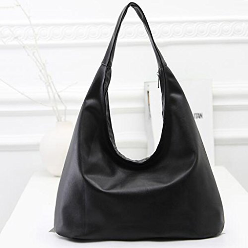 Design Fashion Faux Black Shape Daily With Leather Women and Outing Bag Shoulder Shopping for for Travel Dumpling rUnCr0qw