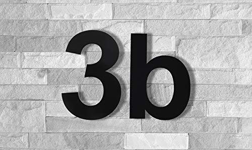 QT Modern House Number - 8 inch Black - Stainless Steel (Number 6 Six / 9 Nine), Floating Appearance, Easy to Install and Made of Solid 304