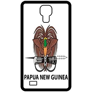 Papua New Guinea - Country Coat Of Arms Flag Emblem Black Samsung Galaxy S4 i9500 Cell Phone Case - Cover