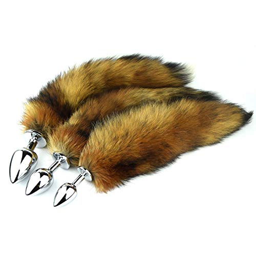 Cat Tail B-útt Play plùg Fox Tail B-útt plùg Metal A-nal plùg Fire Fox Tails Sexzz A-nal Toy Sexzz Game Erotic Role Play Toy,S plùg,B-útt Play plùg Women Toys Small QTGX t-shirt