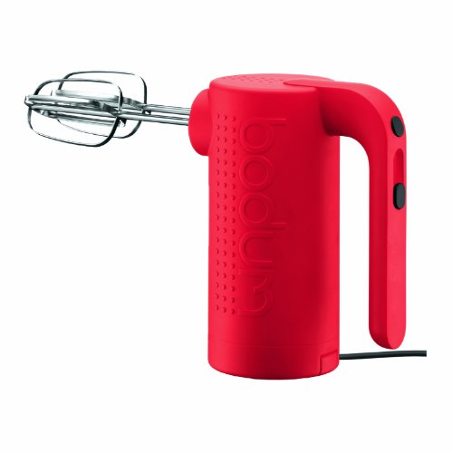 Bodum Bistro Electric 5 Speed Hand Mixer, Red