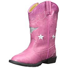 Smoky Mountain Boots Girls Austin Lights Faux Leather Cowboy