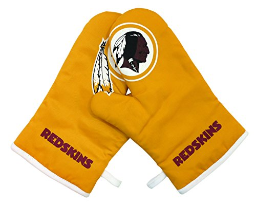 NFL Washington Redskins Crossover Oven Mitts Kitchen Product, Full Color, One Size ()