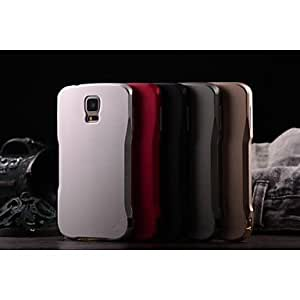QHY Samsung S5 I9600 compatible Solid Color/Special Design Metal Back Cover , Black