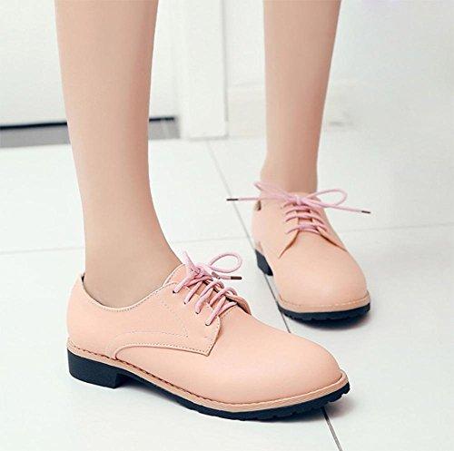 Frau im Frühjahr und Herbst einzelne Schuhe mit niedrigen Absätzen Schuhe mit dicken Schuhen Spitze Schuhen Damen , US6.5-7 / EU37 / UK4.5-5 / CN37