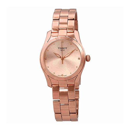 Tissot T-Wave Ladies Diamond Rose Gold Watch T112.210.33.456.00