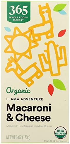 365 by Whole Foods Market, Organic Macaroni & Cheese, Llama Adventure, Cheddar, 6 Ounce
