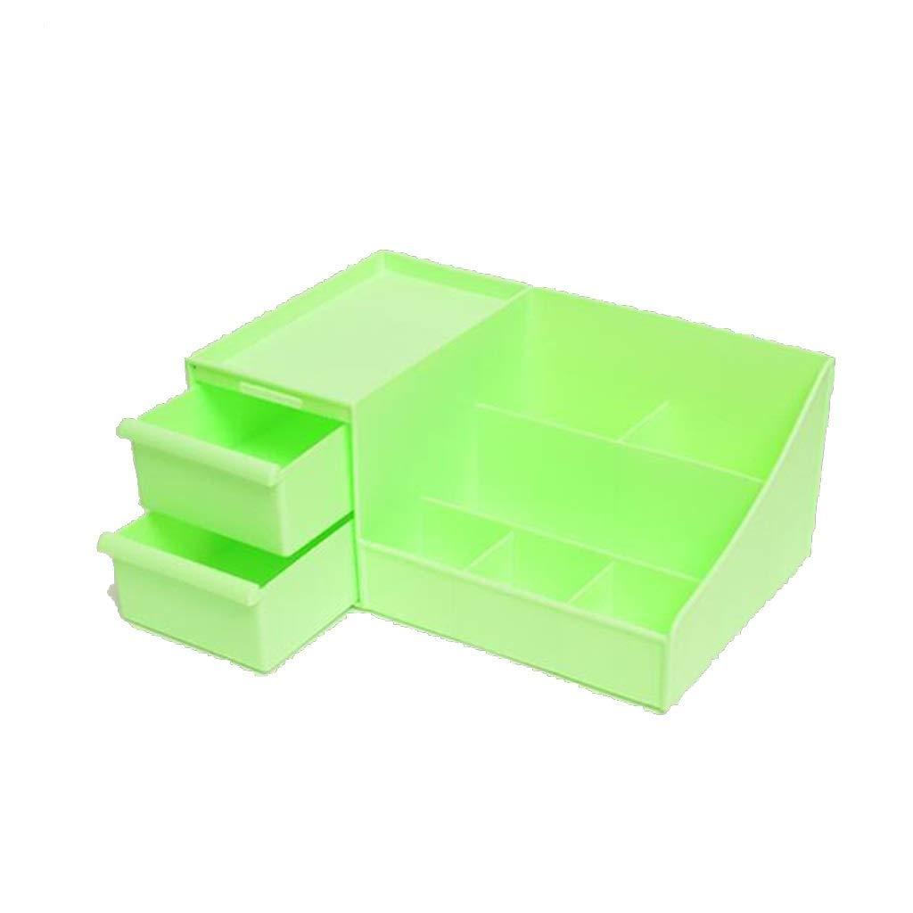 DDPGOFMB Cosmetic Organizer Cosmetic Organizer Plastic Multi-Grid Creative Desktop Storage Box Cosmetic Two-Drawer Finishing Box (Color: 01) (Color : 5, Size : -)