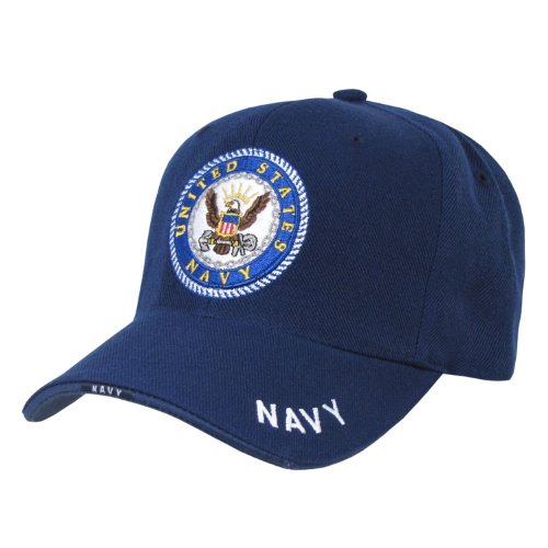 Rapid Dominance Genuine The Legend, Military Branch Caps (Adjustable , Navy Navy)