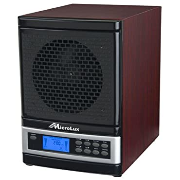 MicroLux ML4000DCH 7-Stage UV Ion Air Purifier with Remote, Cherry Wood Finish
