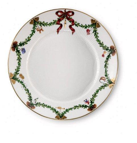 Royal Copenhagen Star Fluted Christmas Salad Plate