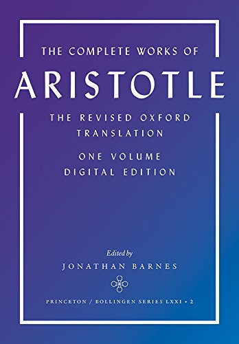 COMPLETE WORKS OF ARISTOTLE PDF DOWNLOAD