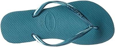 Havaianas Women's Slim Sandal, Mineral Blue 37/38 BR (7-8 M US)