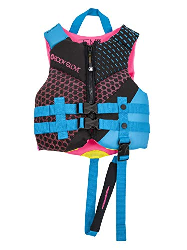 Body Glove 18224CAQUPNK Phantom Child PFD Life Vest - USCGA Approved Aqua, Pink