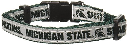 Pets First Collegiate Pet Accessories, Dog Collar, Michigan State Spartans, Small