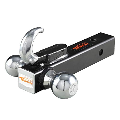 Towever 84030 Trailer Hitch Dual-Ball Mount with Hook (2