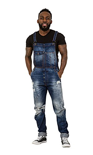 [해외]ns 'Twisted Seam'Bib 오버올 - Slim Fit Dungarees Destroyed 데님 세부 정보/Mens `Twisted Seam` Bib Overalls - Slim Fit Dungarees Destroyed Denim details
