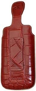 Suncase - Funda de cuero para Motorola RAZR Maxx, color rojo con relieve