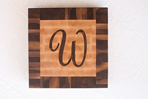 Chopping Blox Personalized Custom wood cutting board with inlay letter. SIXB-MXX