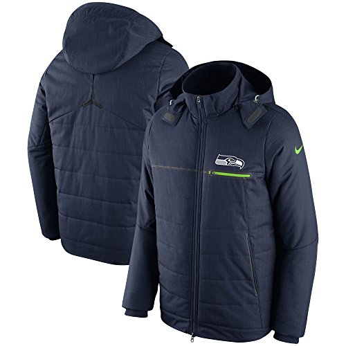Nike Seattle Seahawks Champ Drive Full-Zip Sideline Hoodie Jacket (Small)