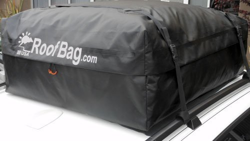 Amazon.com: RoofBag 100% Waterproof Carrier   Made In USA   Works On ALL  Vehicles: For Cars With Side Rails, Cross Bars Or No Rack  Cross Country  Soft Car ...