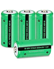 2/3AA Size NIMH Rechargeable Battery 1.2V 650mah Button-Top Battery 4Pcs