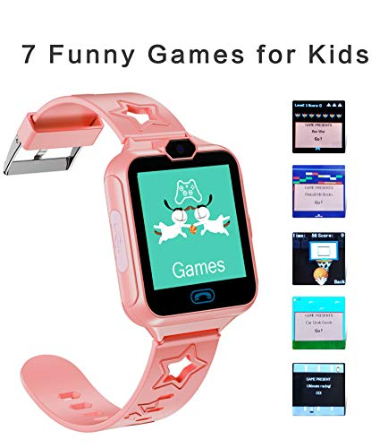 kkcite Smart Watch Phone for Kids Two-Way Call with Games as a Gift for Children Boys & Girls 5-14 Years Old(2G GSM SIM Card not Include)