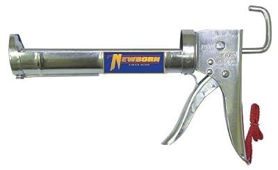 Newborn 307 Super Ratchet Rod Cradle Caulking Gun, 1/10 Gallon Cartridge, 6:1 Thrust Ratio
