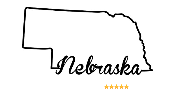 Multiple Patterns /& Sizes Nebraska Home State ebn3829 Vinyl Decal Sticker