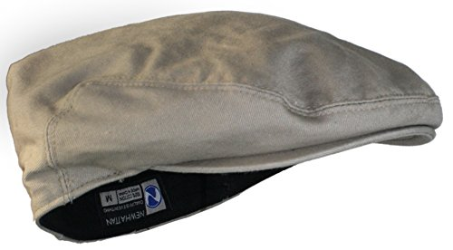 (Ted and Jack Street Easy Traditional Solid Cotton Newsboy Cap (Khaki X-Large, Beige))